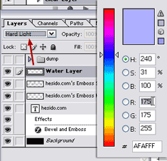 Select Color, Set Layer